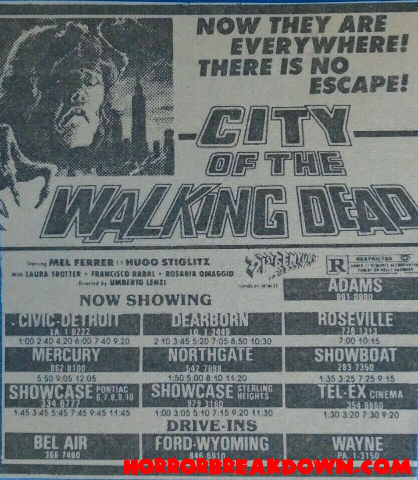 City of the Walking Dead - Newspaper Ad