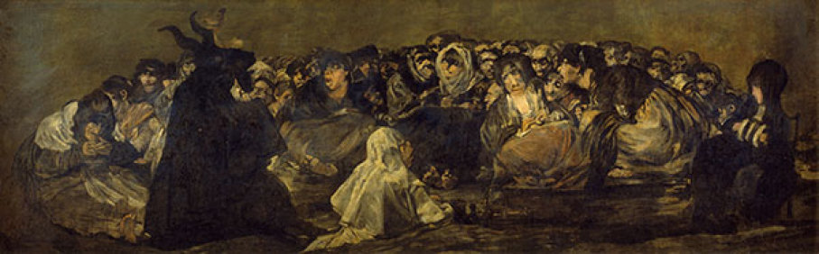 Witches' Sabbath by Francisco Goya.