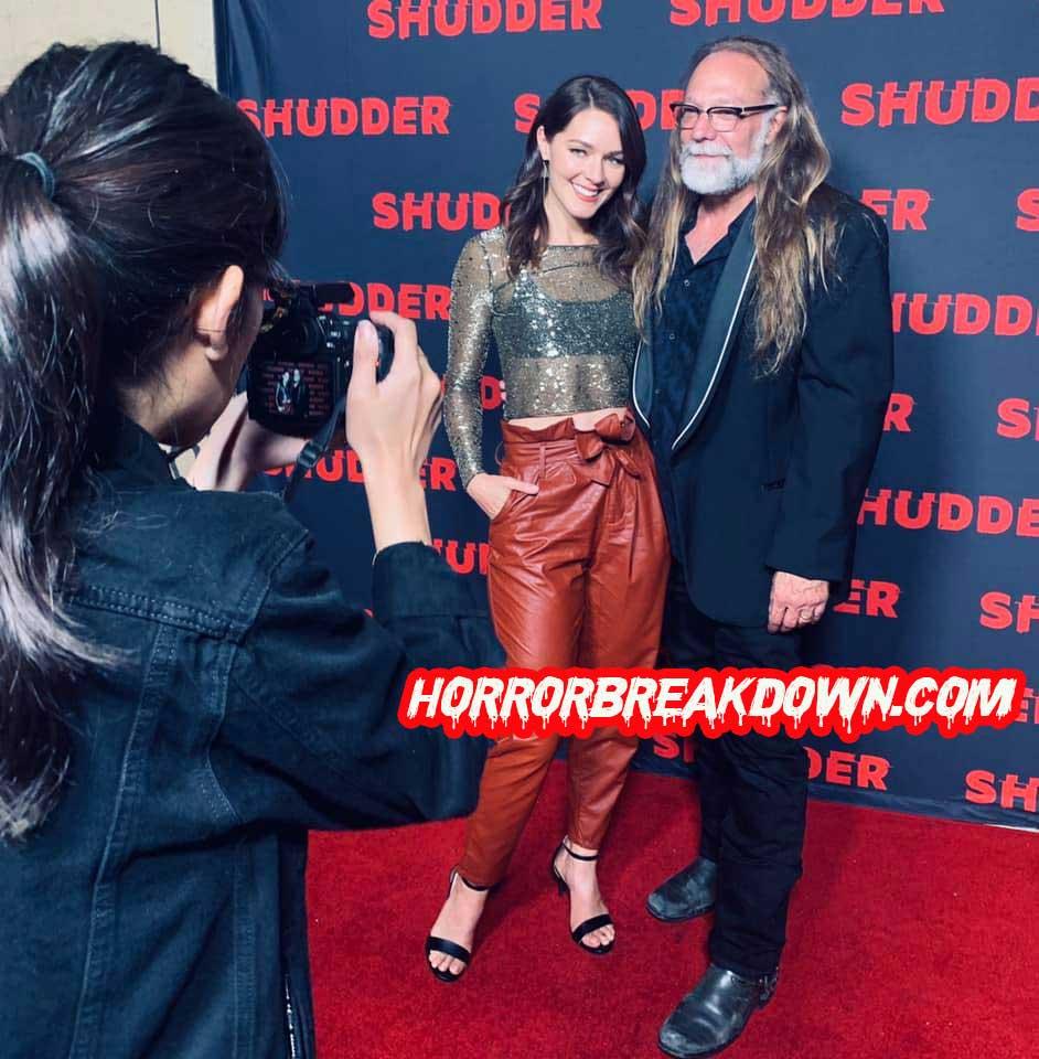 Hannah and Greg Nicotero at the Shudder Premiere