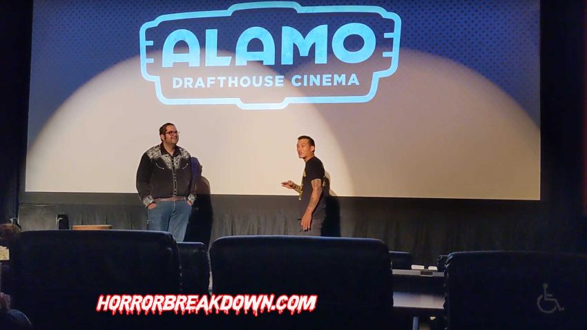 Thom DeMicco from Troma introduces Tromadance short films at the Alamo Drafthouse